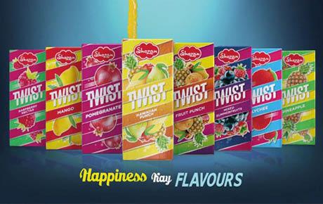 Packaging design for Shezan Twist