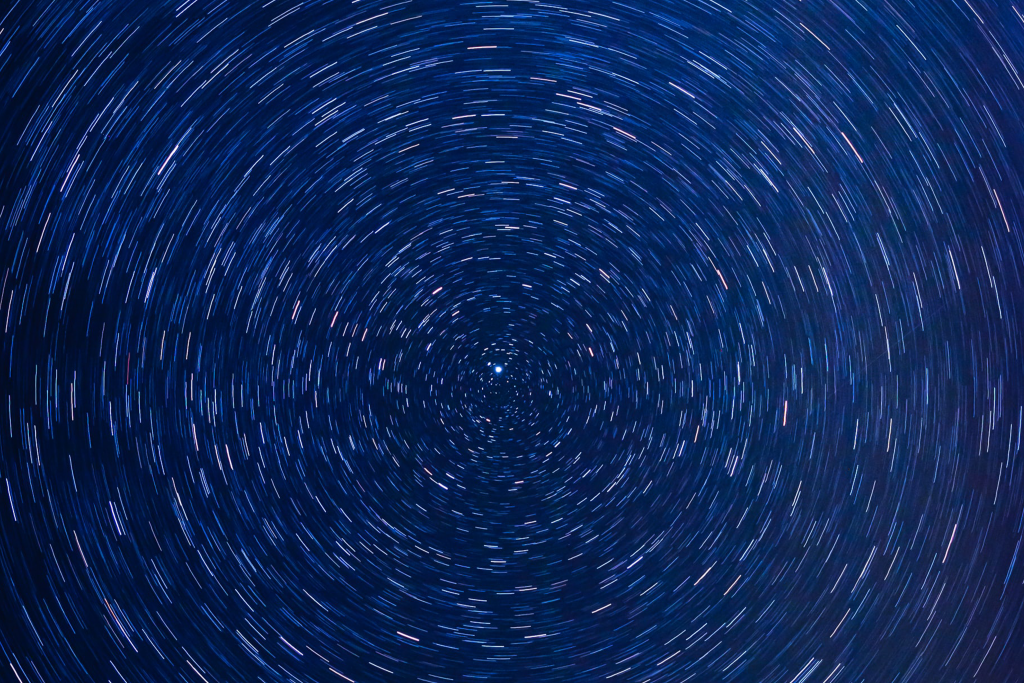 Blue circle with small light lines